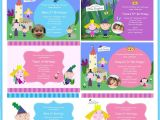 Ben and Holly Party Invites Ben and Holly Party Invitations Mickey Mouse Invitations