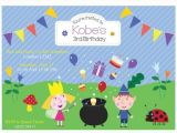 Ben and Holly Party Invites Customized Ben and Holly S Little Kingdom Birthday