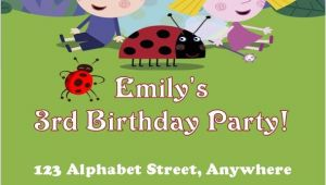 Ben and Holly Party Invites Personalised Ben and Holly Invitations Design 2
