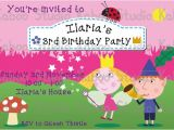 Ben and Holly Party Invites Printable Ben and Holly S Little Kingdom Inspired Digital