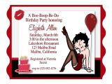Betty Boop Birthday Party Invitations Betty Boop Birthday Party Invitation Invitations Pinterest