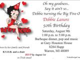 Betty Boop Birthday Party Invitations Items Similar to Custom Betty Boop theme 50th Birthday