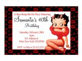 Betty Boop Birthday Party Invitations Personalized Betty Boop Birthday Party Invitation Printable