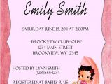 Betty Boop Bridal Shower Invitations Personalized Invitations