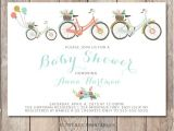 Bicycle Baby Shower Invitations Baby Shower Invitation Bicycle Baby Shower by Trendyprintables