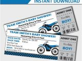 Bicycle Baby Shower Invitations Motorcycle Baby Shower Invitation Dirt Bike Baby Shower