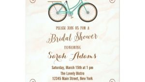 Bicycle Bridal Shower Invitations Bicycle Watercolor Bridal Shower Invitation Zazzle