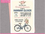 Bicycle Bridal Shower Invitations Spring Bicycle Bridal Shower Invitation Floral by