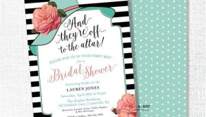 Big Hat Bridal Shower Invitations Big Hat Bridal Shower Invitation they Re Off to the by