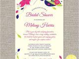 Big Hat Bridal Shower Invitations Big Hats and Fascinators Custom Bridal Shower Invitation