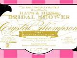 Big Hat Bridal Shower Invitations Bridal Shower Invitations Bridal Shower Invitations Hat theme