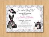 Big Hat Bridal Shower Invitations Tea Fancy Hat Dress Birthday Bridal Shower Personalized