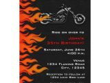 Biker Party Invitations Biker Motorcycle Leather Flames Party Invitation Zazzle