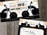 Biker Party Invitations Biker Motorcycle Wedding Invitation Diy Printable Digital