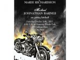 Biker Party Invitations Leather Flames Offbeat Biker Wedding Invitation Zazzle