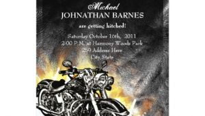Biker Party Invitations Leather Flames Offbeat Biker Wedding Invitation Zazzle