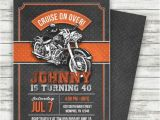 Biker Party Invitations Motorcycle Biker Birthday Invitation Vintage Motorcycle