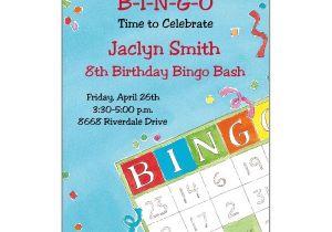 Bingo Party Invitations Bingo Birthday Invitations Paperstyle