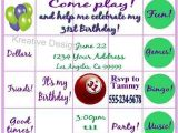 Bingo Party Invitations Bingo Invites Google Search Pokeno Game Night
