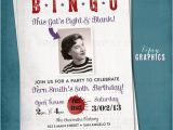 Bingo Party Invitations Bingo Milestone Surprise Party Invite This Kid 39 S Eight