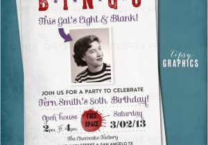 Bingo Party Invitations Bingo Milestone Surprise Party Invite This Kid 39 S Eight