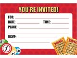 Bingo Party Invitations Bingo Party Invitations Envelopes 8 Pack Discount