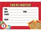 Bingo Party Invitations Bingo Party Invitations Envelopes 8 Pack Discount