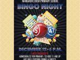 Bingo Party Invitations Free Bingo Flyer Bingo Night Poster Template Church School