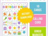 Bingo Party Invitations Free Birthday Party Bingo Game – Printabelle