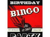 Bingo Party Invitations Free Retro Party Red Black White Bingo Invitations