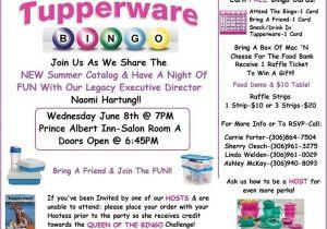 Bingo Party Invitations Prince Albert Tupperware Bingo Prince Albert