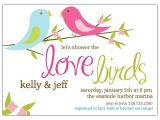 Bird Bridal Shower Invitations Love Birds Bridal Shower Invitations