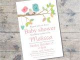 Bird Nest Baby Shower Invitations Bird Nest Baby Shower Invitation Pink Diy Printable Baby