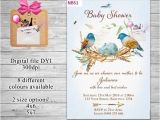 Bird Nest Baby Shower Invitations Watercolor Birds Nest Baby Shower Invitations Diy U Print
