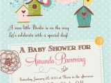 Bird themed Baby Shower Invitations Birds and Bird Houses Baby Shower Invitation Printable