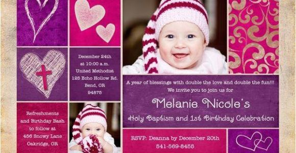 Birthday and Baptism Invitations Baptism Birthday Invitations A Birthday Cake