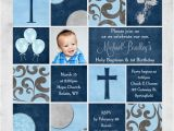 Birthday and Baptismal Invitation Wordings First Birthday and Baptism Invitations