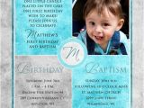 Birthday and Baptismal Invitation Wordings Square Baptism Invitations Christenings 1st