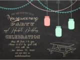 Birthday and Housewarming Party Invitation Items Similar to Invitation Chalkboard Picnic Mason Jar