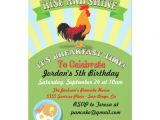 Birthday Breakfast Invitation Template Rise and Shine Breakfast Birthday Party Invitation Zazzle