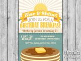 Birthday Breakfast Invitation Wording Birthday Breakfast Invitation Utopia Printables