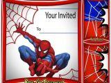 Birthday Invitation Card Spiderman theme Free Spiderman Birthday Invitation Printable