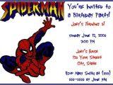 Birthday Invitation Card Spiderman theme Spider Man Invitations Free Printable