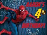 Birthday Invitation Card Spiderman theme Spiderman Birthday Invitation Custom Personalized