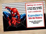 Birthday Invitation Card Spiderman theme Spiderman Birthday Invitations Gangcraft Net