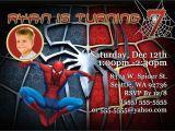Birthday Invitation Card Spiderman theme Spiderman Birthday Invitations Kustom Kreations