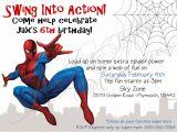 Birthday Invitation Card Spiderman theme Spiderman Clipart Birthday Invitation Card Pencil and In
