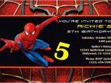 Birthday Invitation Card Spiderman theme Spiderman Invitations General Prints