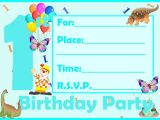 Birthday Invitation Cards for 1 Year Old Birthday Card Invitations Birthday Invitation Cards for