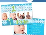 Birthday Invitation Cards for 1 Year Old Boy 1 Year Old Boy Birthday Invitation Custom Announcement